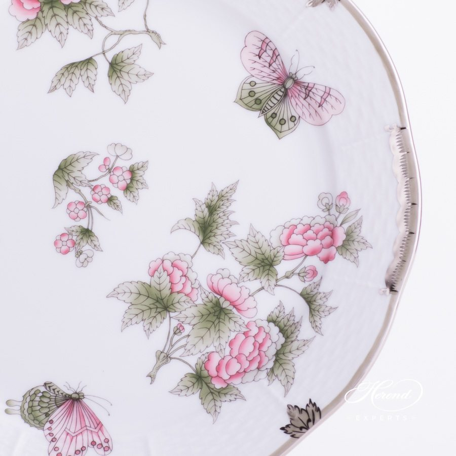 Dinner / Meat Plate 524-0-00 VBOG-X1-PT Queen Victoria Platinum design. Herend fine china hand painted. Modern style tableware