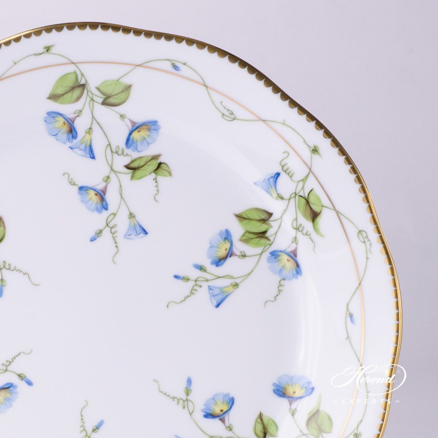 Dinner Plate 20524-0-00 NY Nyon / Morning Glory Flower pattern. Herend fine china tableware. Hand painted