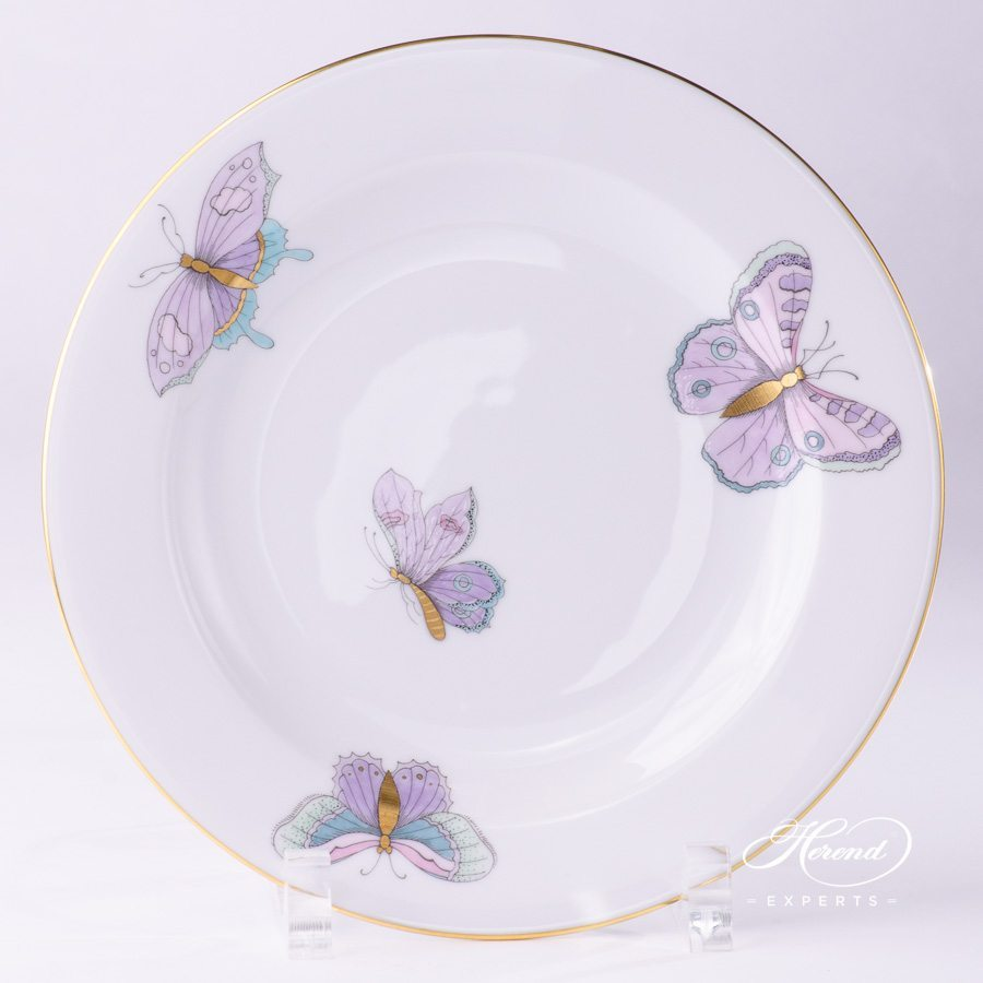 Dessert Plate 2521-0-00 EVICTP2 Royal Garden turquoise Butterfly pattern - Herend porcelain hand painted.