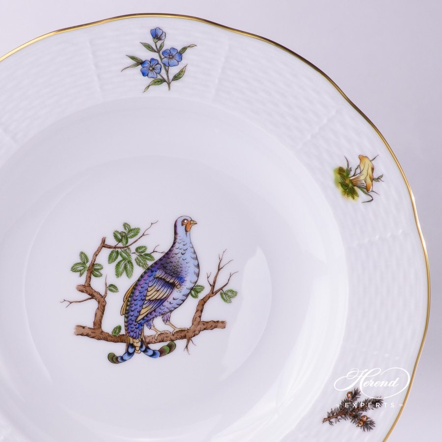 Soup Plate 503-0-00 CHTM Forest Animals pattern with Gilded rim. Herend fine china