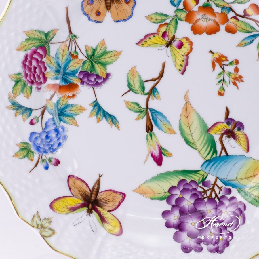 Service / Serving Plate 1527-0-00 VICTORIA - Old Queen VICTORIA design. Herend fine china