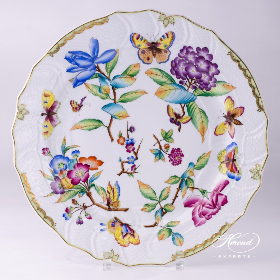 Serving Plate - Big - Old Queen VICTORIA | Herend Experts