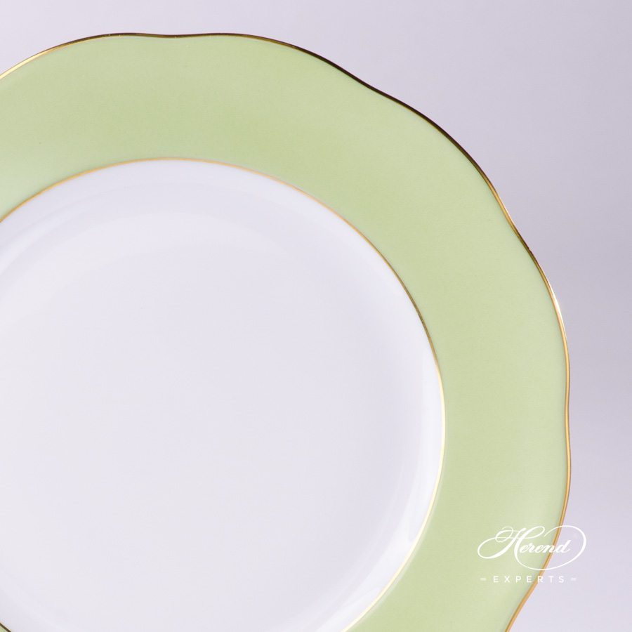 Dessert Plate 20517-0-00 CV1S green edge pattern - Herend porcelain hand painted.