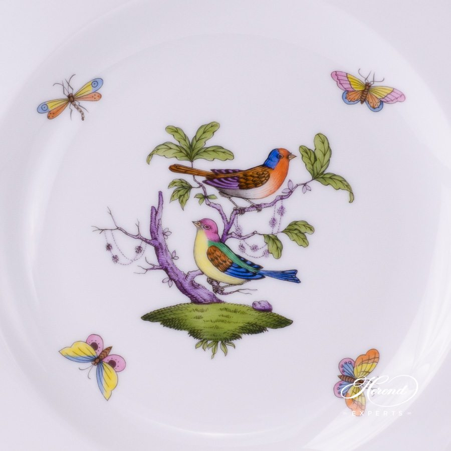 Dessert Plate 2521-0-00 ROM Rothschild Bird multicolour pattern - Herend porcelain hand painted.