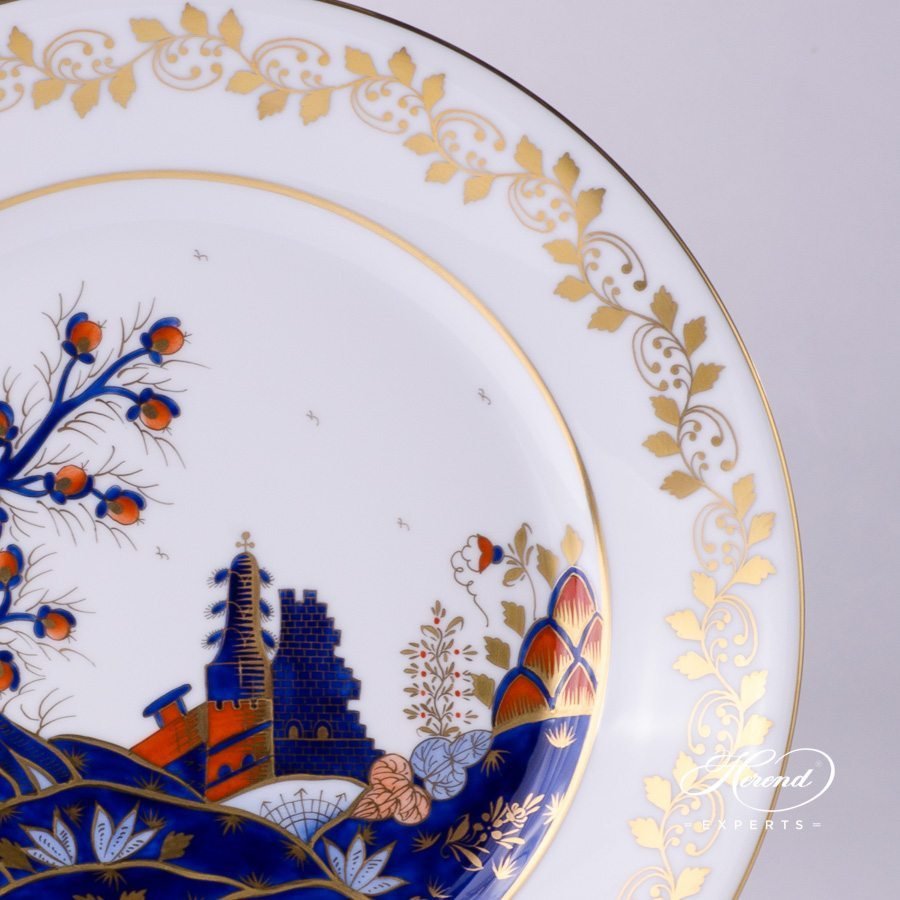Dinner Plate 2524-0-00 MR Miramare pattern - Herend porcelain hand painted.