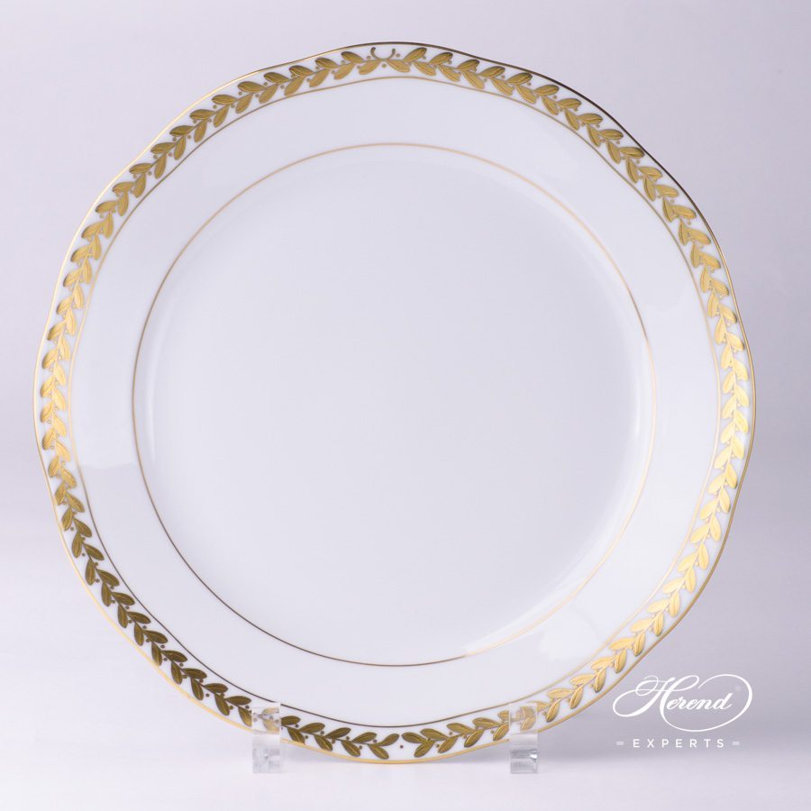 Dinner Plate 20524-0-00 OFLGPR Laurel Garland gold pattern - Herend fine china.