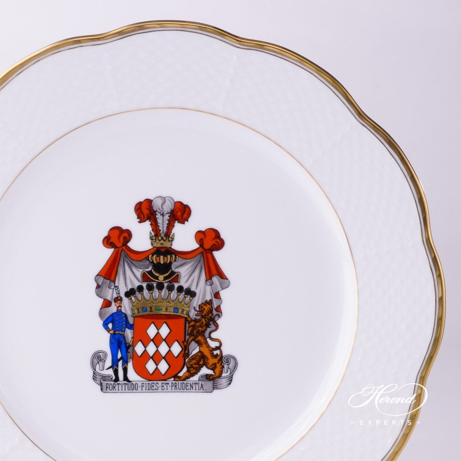 Serving Plate 527-0-00 HD+CIM Coat of Arms pattern - Herend porcelain hand painted.