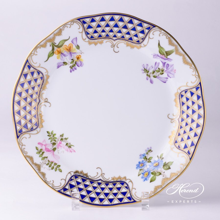 Dinner Plate 20524-0-00 MTFC Mosaic and Flowers decor. Herend porcelain tableware. Hand painted