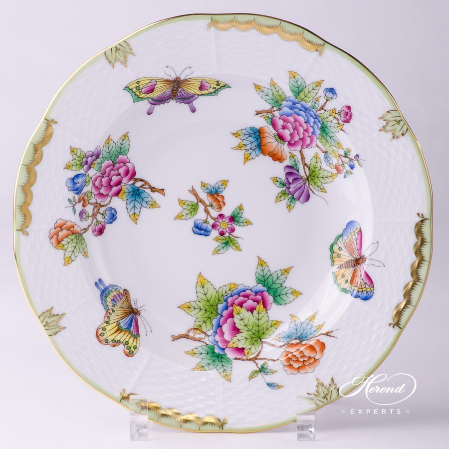 Soup Plate 504-0-00 VBO Queen Victoria pattern - Herend porcelain hand painted.