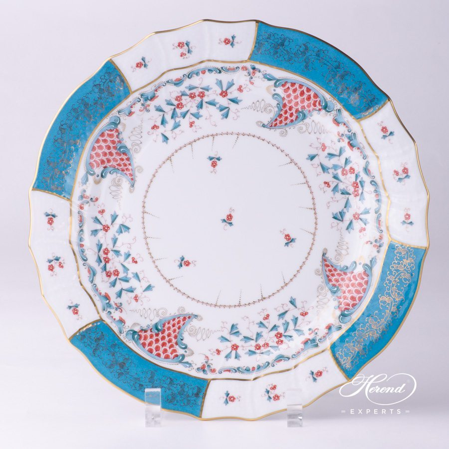 Dinner Plate 1524-0-00 TCA Tupini design. Herend fine china tableware. Cornucopia. Hand painted luxury design