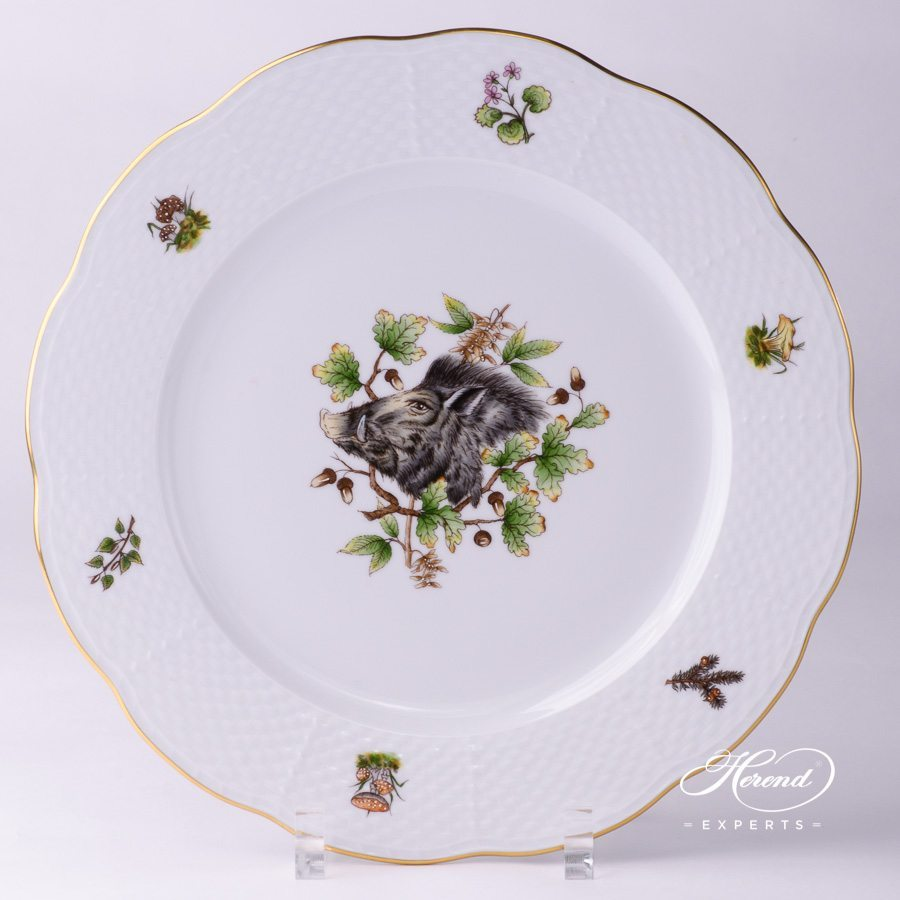 Serving Plate 527-0-00 CHTM Hunter Trophies pattern - Herend porcelain hand painted.