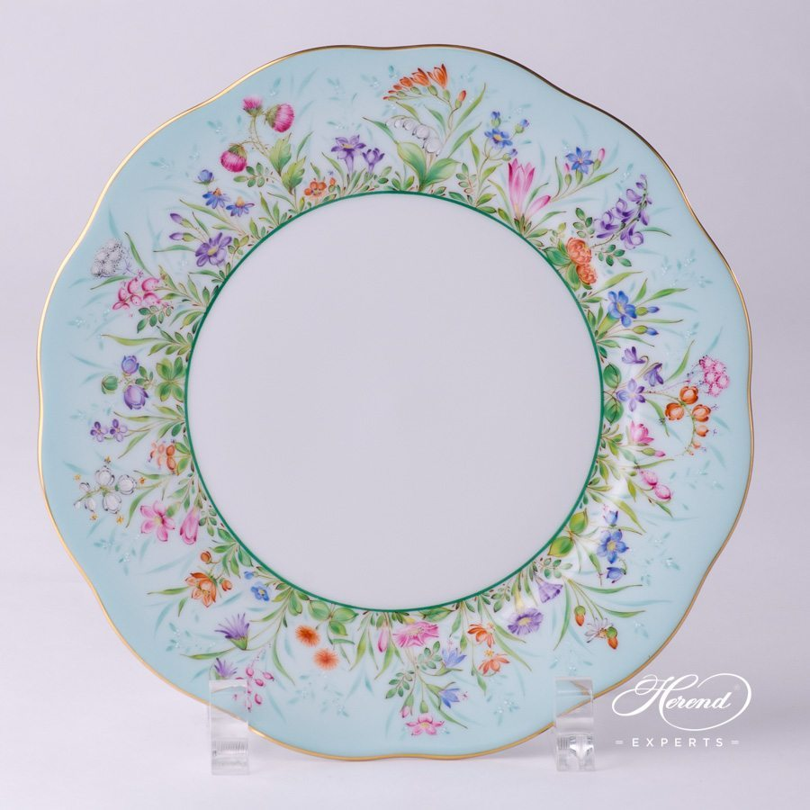 Dessert Plate 20517-0-00 QS Four Seasons Flower design. Basic Dessert Plate. Herend fine china hand painted. Luxury item
