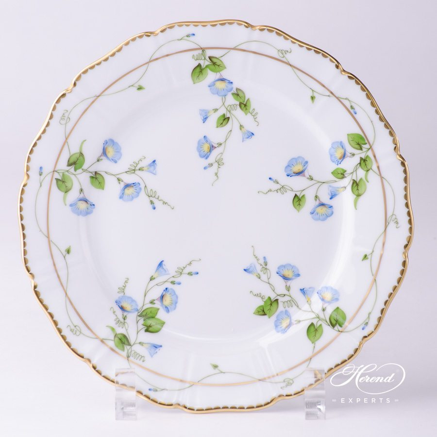 Dessert Plate 4249-0-00 NY Nyon / Morning Glory Flower pattern. Special Shaped. Herend fine china tableware. Hand painted