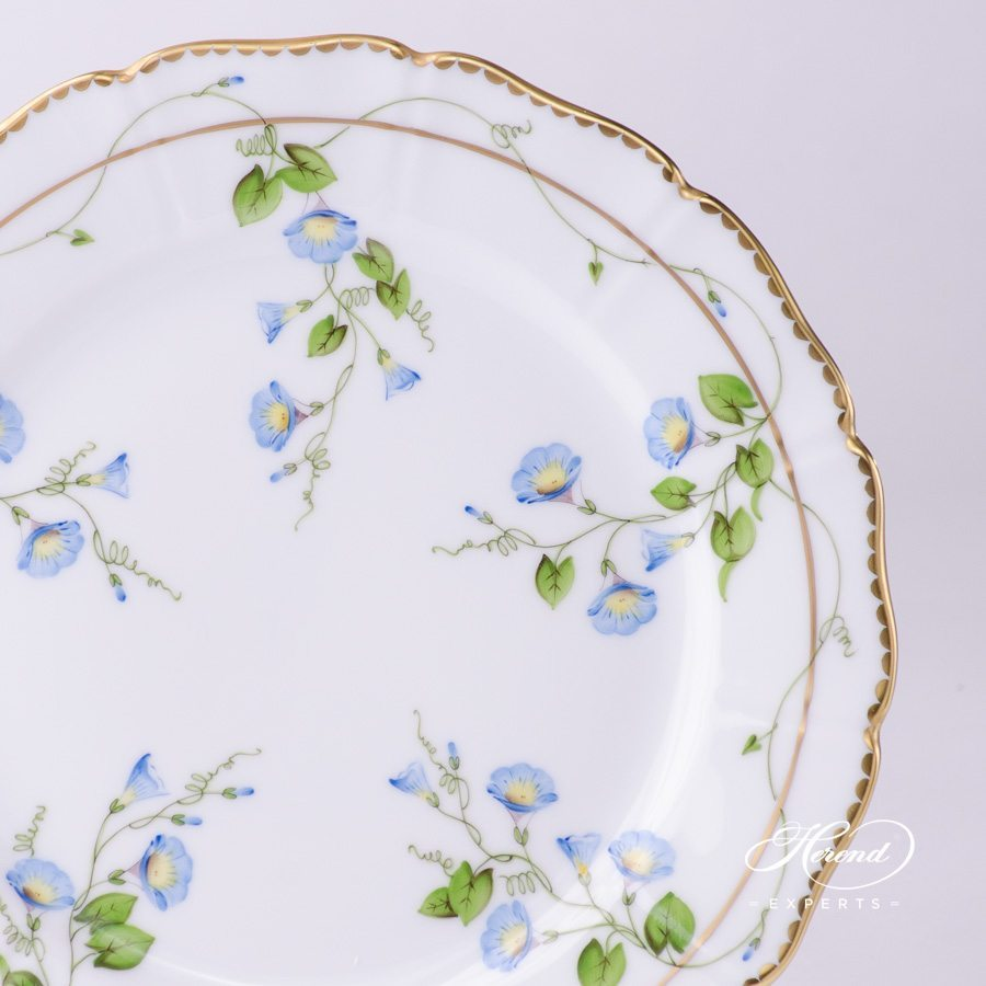 Dessert Plate 4249-0-00 NY Nyon / Morning Glory Flower pattern. Special shaped. Herend fine china