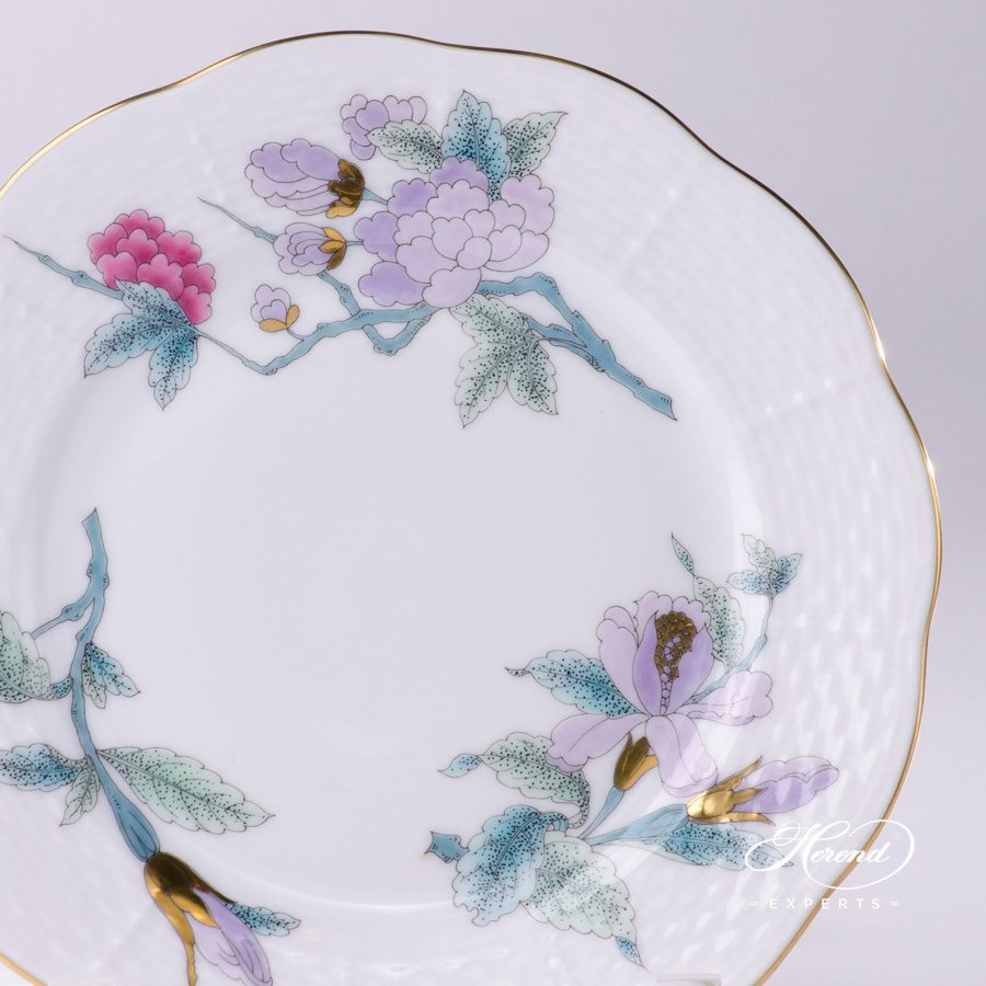 Dessert Plate 517-0-00 EVICTF2 Royal Garden Turquoise Flower pattern - Herend porcelain hand painted.