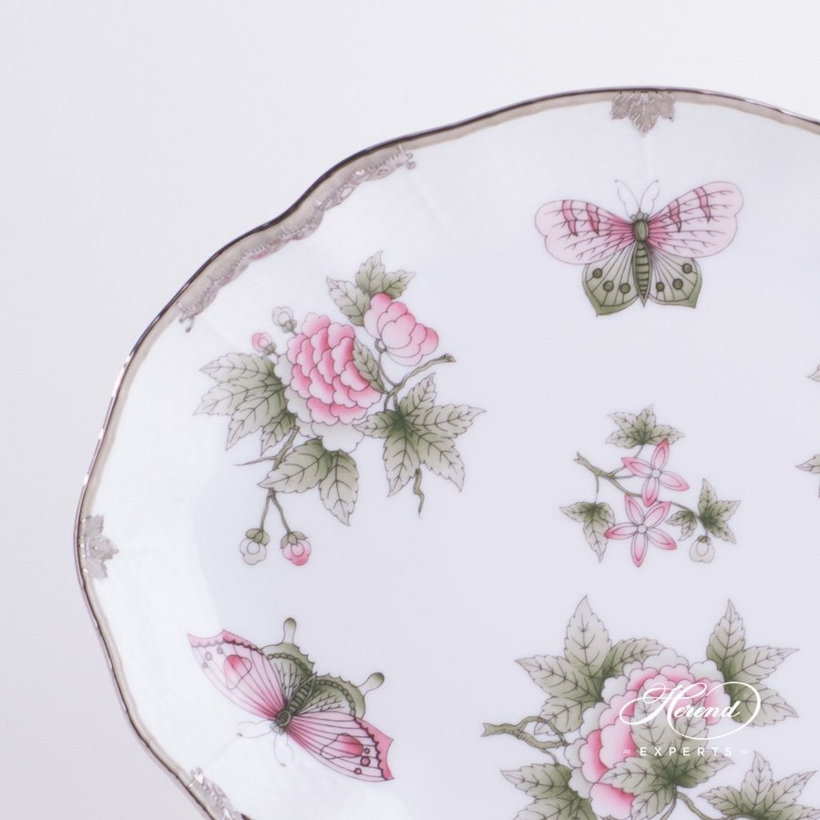 Oval Dish 211-0-00 VBOG-X1-PT Queen Victoria Platinum design. Herend fine china hand painted