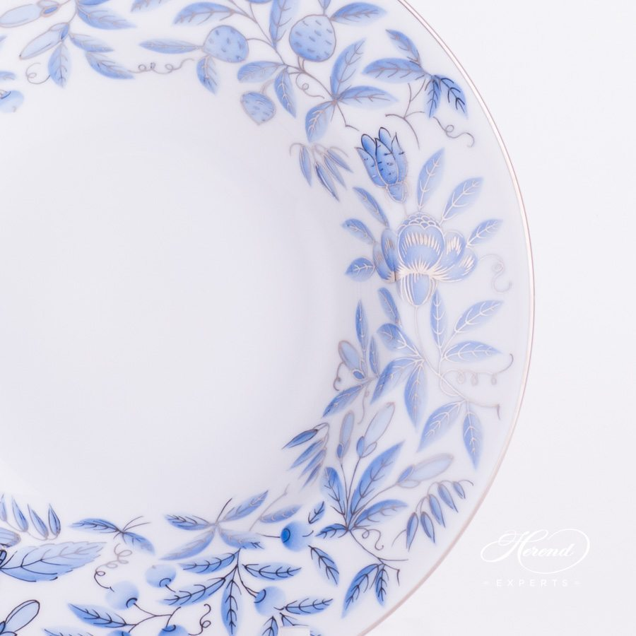 Soup Plate 2505-0-00 ZOBAS-PT blue pattern - Herend porcelain hand painted.