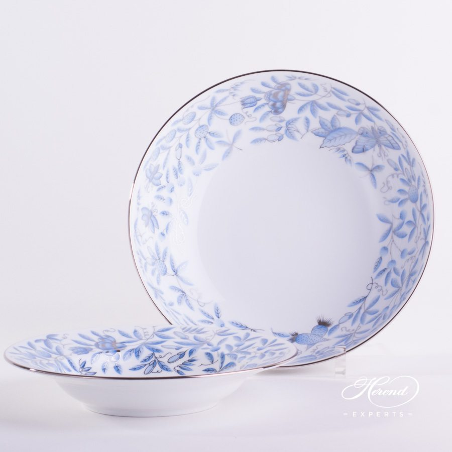 Salad Dis 2366-0-00 ZOBAS-PT blue pattern - Herend porcelain hand painted.