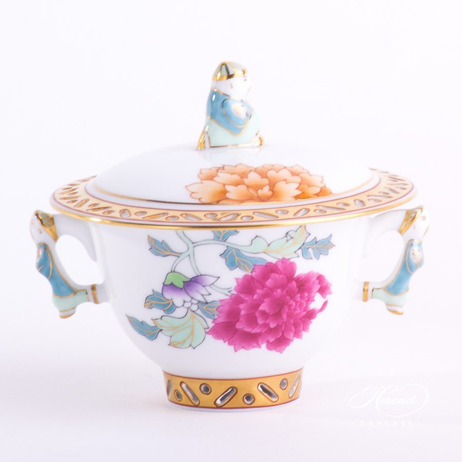 Sugar Basin Pink Peony - PVR pattern - Herend porcelain hand painted.