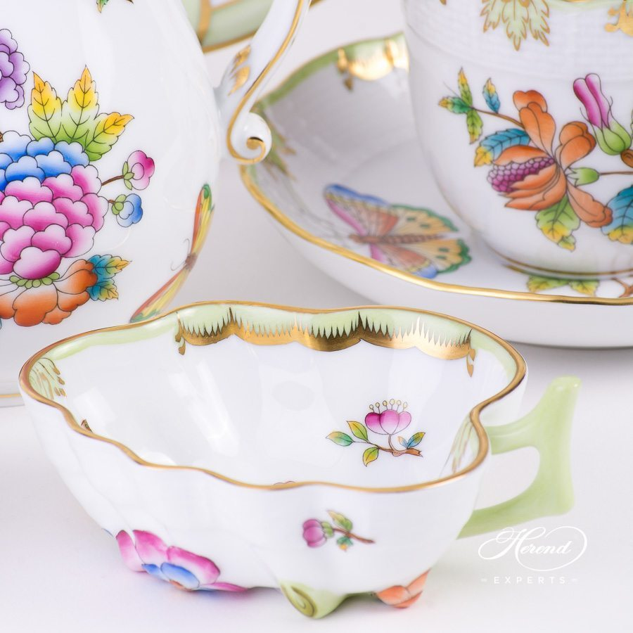 Coffee Set for 2 persons Queen Victoria VBO pattern - Herend porcelain hand painted.