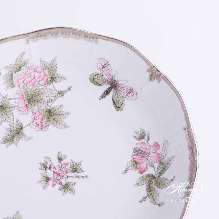 Vegetable Dish 148-0-00 VBOG-X1-PT Queen Victoria Platinum design. Herend fine china hand painted