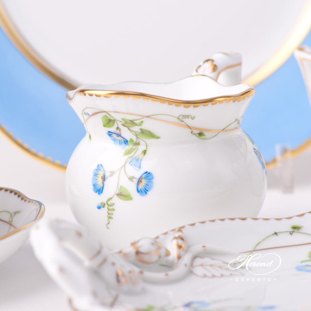 Creamer / Milk Jug 20644-0-00 NY Nyon / Morning Glory design. Herend fine china tableware. Hand painted