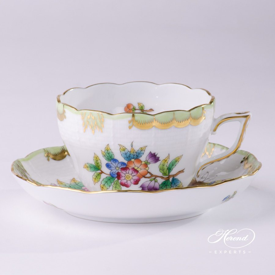 Tea Cup or Coffee Cup 730-0-00 VBO Queen Victoria pattern - Herend porcelain hand painted.
