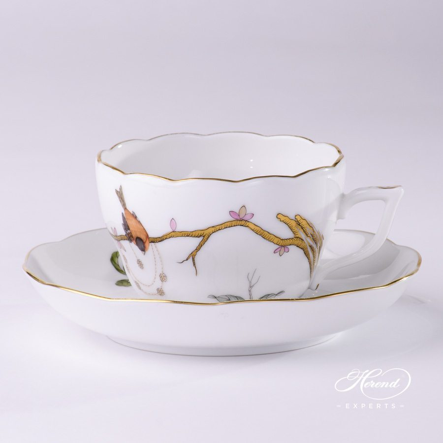 Tea Cup with Saucer 730-0-00 REJA Dream Garden pattern - Herend porcelain hand painted.
