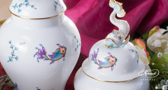 Coloured Fishes COPO pattern - Herend fine china hand painted.