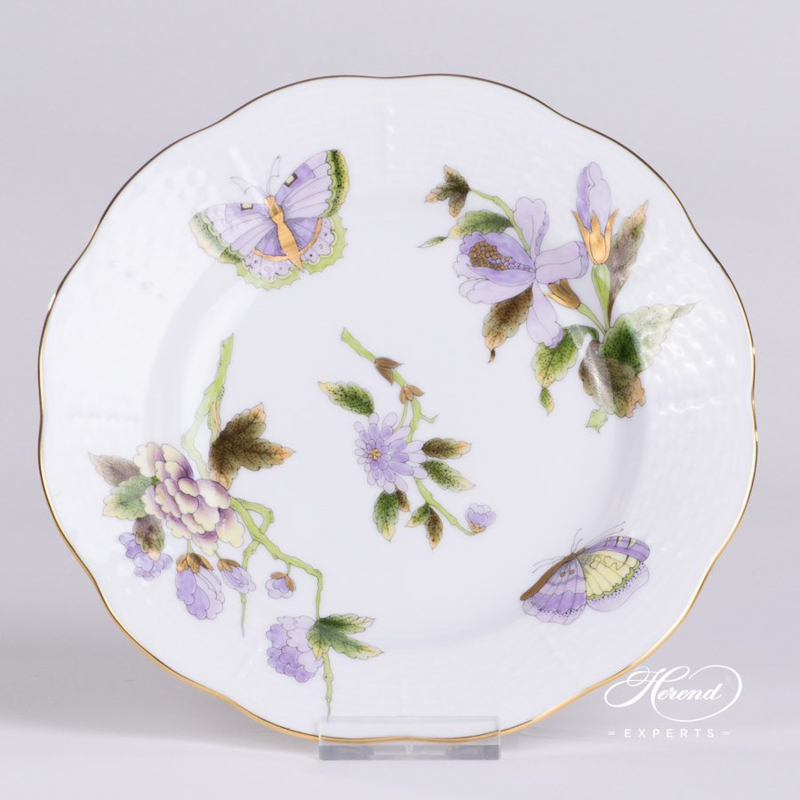 Dessert Plate 515-0-00 EVICT1 Royal Garden green pattern - Herend porcelain hand painted.