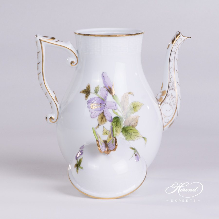Coffee Pot 613-0-17 EVICTF1 Royal Garden green pattern - Herend porcelain hand painted.