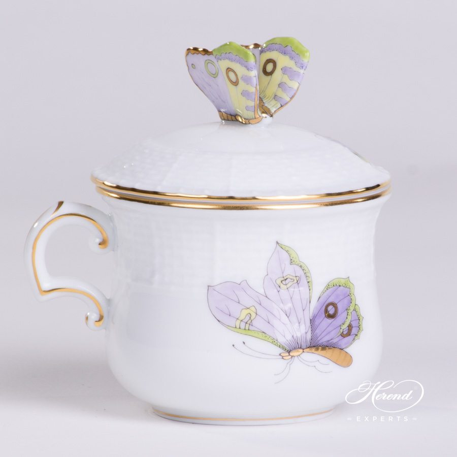Cream Cup 385-0-17 EVICTP1 Royal Garden Green Butterfly pattern - Herend porcelain hand painted.