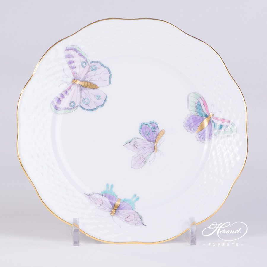 Dessert Plate 517-0-00 EVICTP2 Royal Garden Turquoise pattern. Herend porcelain hand painted