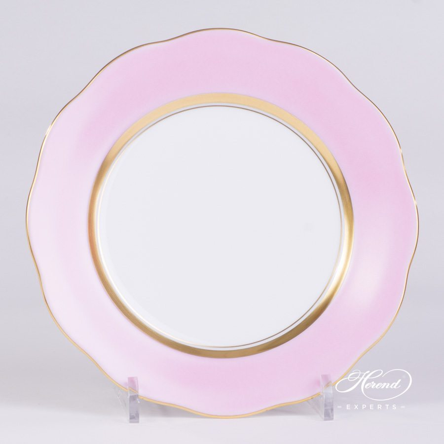 Dessert Plate 20517-0-00 CP6 Pink edge pattern - Herend porcelain hand painted.