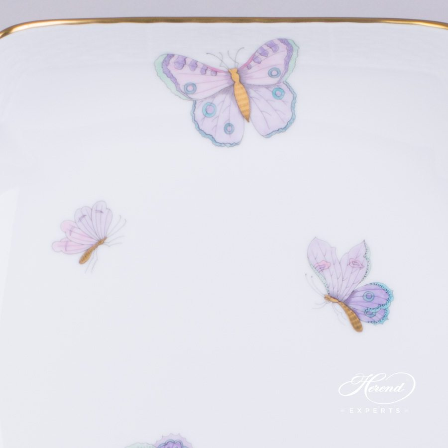 Salad Dish 181-0-00 EVICTP2 Royal Garden Turquoise pattern. Herend porcelain hand painted