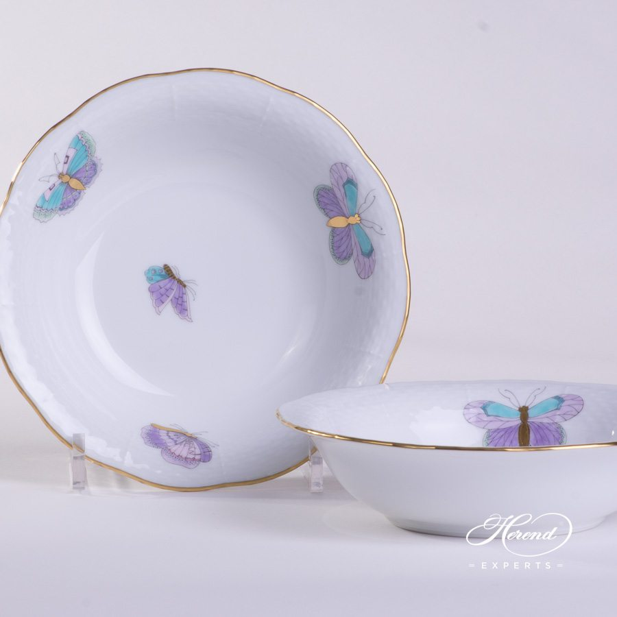 Fruit Bowl 330-0-00 EVICTP2 Royal Garden Turquoise pattern. Herend porcelain hand painted