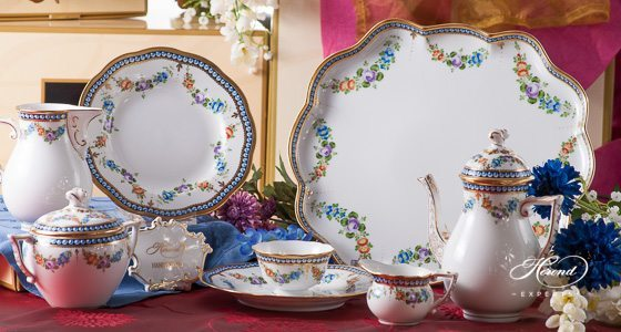 Pearls GPN pattern - Herend fine china hand painted.