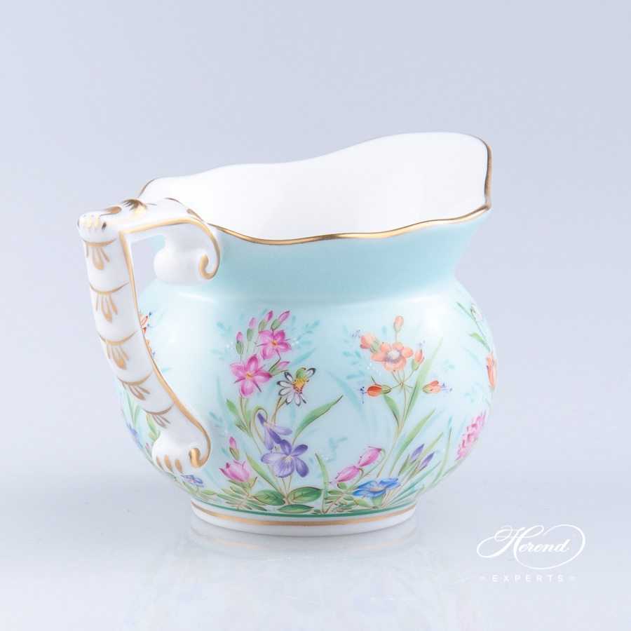 Creamer 20644-0-00 QS Four Seasons pattern. Herend porcelain hand painted