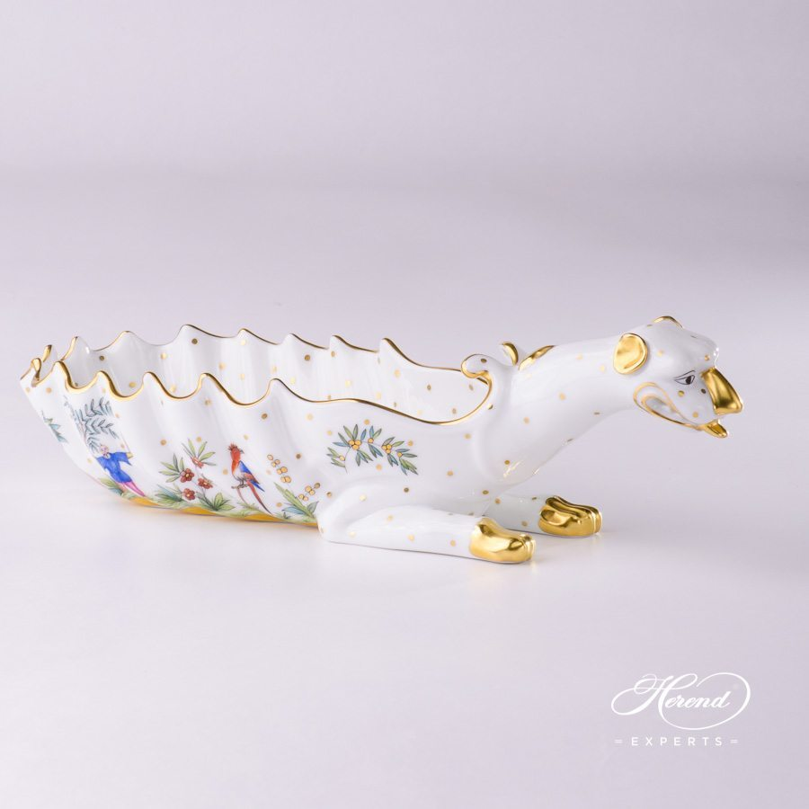 Ashtray Dragon 7760-0-00 FODO Oriental Showmen pattern. Herend fine china tableware. Ornaments. Hand painted