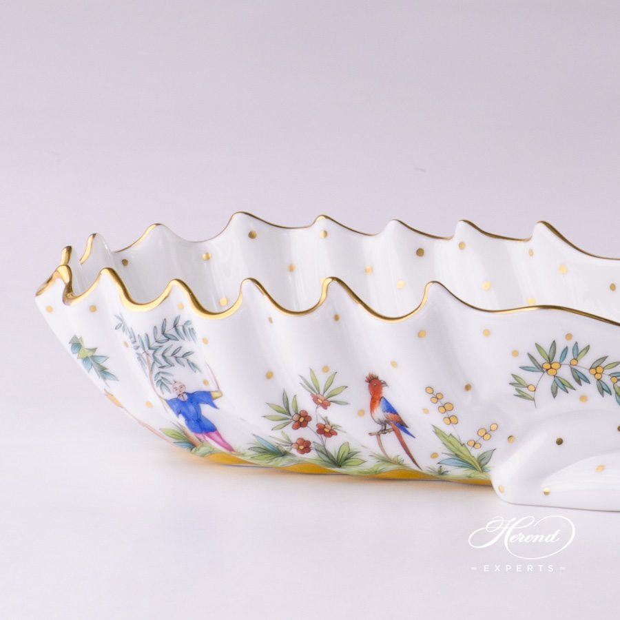Ashtray 7760-0-00 FODO Oriental Showmen pattern - Herend porcelain hand painted.