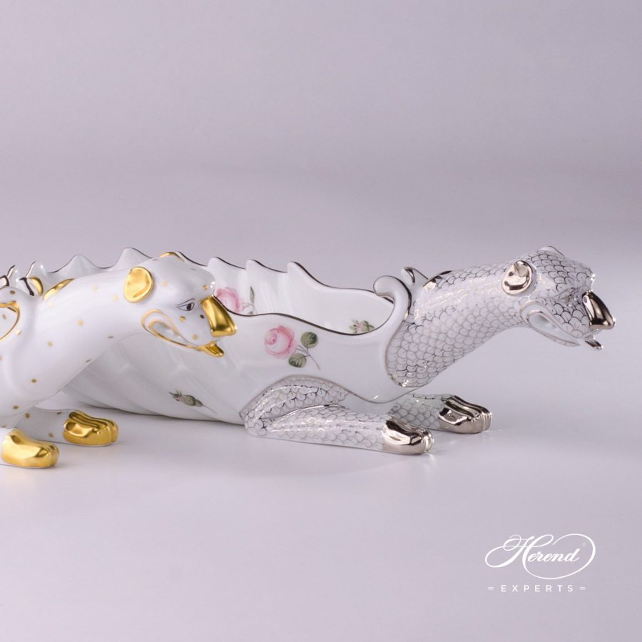 Ashtray Dragon 7760-0-00 FODO Oriental Showmen and Vienna Rose Platinum VR-PT patterns. Herend fine china tableware. Ornaments. Hand painted