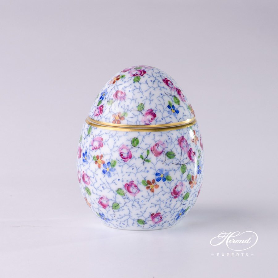 Bonbonniere Egg Shaped 6043-0-00 QHF5 Small Flowers pattern - Herend porcelain.