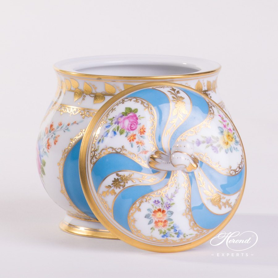 Sugar Basin with Lid 3692-0-00 Colette pattern. Herend porcelain hand painted