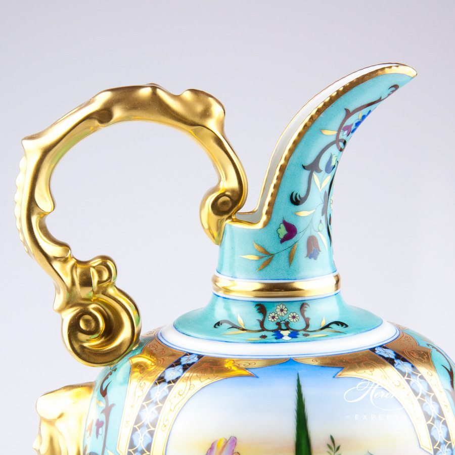 Fancy Jug 7602-0-00 MP Special pattern with Persian motifs - Herend porcelain hand painted.