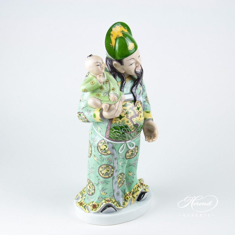 Fu Hsing 5679-0-00 CD Naturalistic Human figurine - Herend porcelain hand painted.
