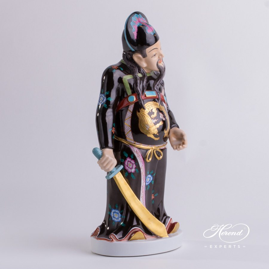 Mandarin with Sword 5680-0-00 CD Naturalistic Human figurine - Herend porcelain hand painted.