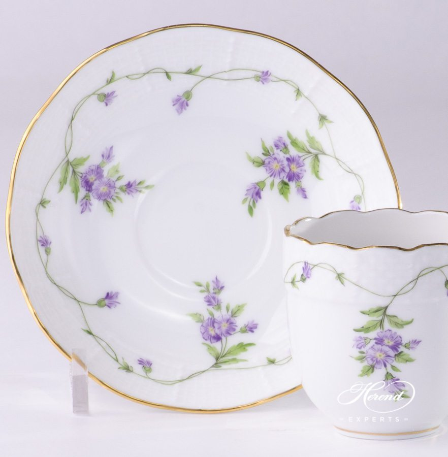 Coffee / Espresso Cup w. Saucer 709-0-00 IA Imola Flower pattern. Herend fine china hand painted
