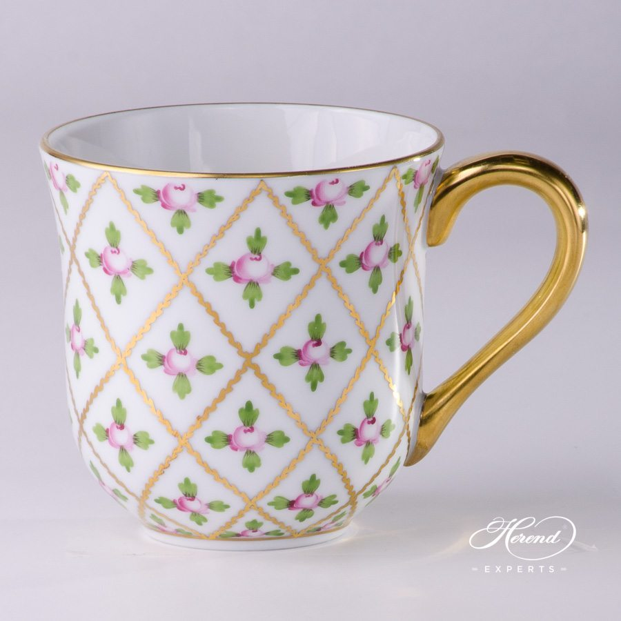 Universal Cup/ Breakfast Cup 2729-0-00 SPROG Sevres Roses design. Herend fine china hand painted. Classic and Luxury Herend pattern
