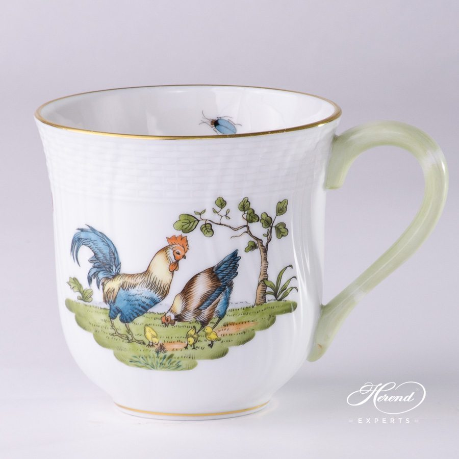 Universal Cup 1729-0-00 GVL Rooster and Hen pattern - Herend porcelain hand painted
