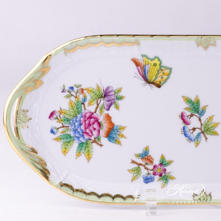Sandwich Dish Queen Victoria VBO pattern - Herend porcelain.